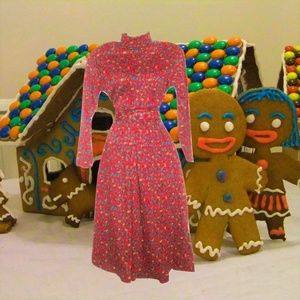 vintage ugly christmas dress size small medium